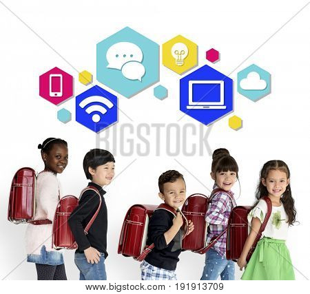 Technology Icons Communication Connection Concept