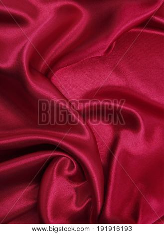 Smooth Elegant Red Silk Or Satin Luxury Cloth Texture As Abstract Background. Luxurious Background D