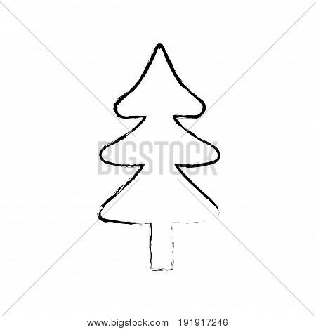 natural pine tree to ecology reserve vector illustration