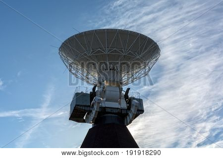 Ventspils, LV - MAY 6, 2017: Deep space radio telescope