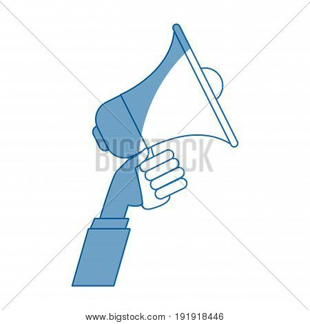 hand holding speaker loud marketing business vector illustration