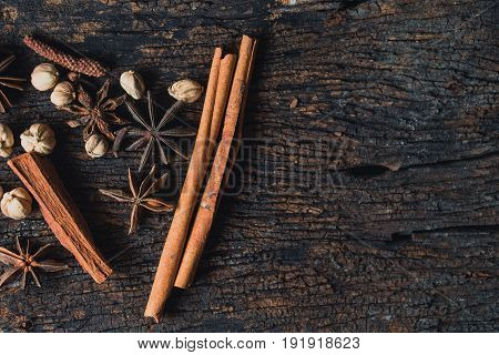 dried herb collection set. mix of dry plant seed herbal for nature alternative medical.