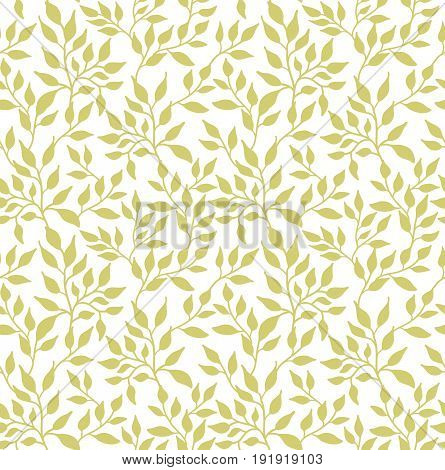 Flowers leaf seamless pattern, green on white. Green leaves background for pattern, backdrop, fabric. Birthday greeting card, wedding invitation, baby shower, party, events. Beautiful print wallpaper
