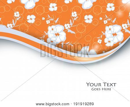 floral vector background with copy space. Design elements for illustrations. Eps10
