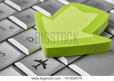 Online flight ticket booking. Vacation business background. Holidays