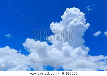 Cumulus Cloud. Day Sky Cloud No Sun. Summer Sky.