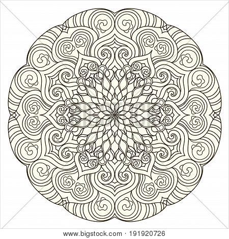 Abstract ornament for ethnic pattern and  motifs. Vintage decorative elements arabesque design element