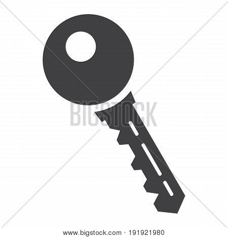 Key solid icon, security and password, vector graphics, a glyph pattern on a white background, eps 10.