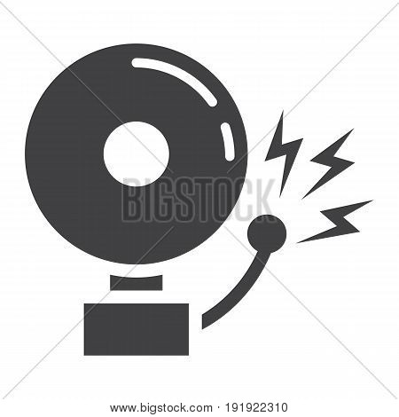 Fire alarm solid icon, intruder alarm and security, vector graphics, a glyph pattern on a white background, eps 10.