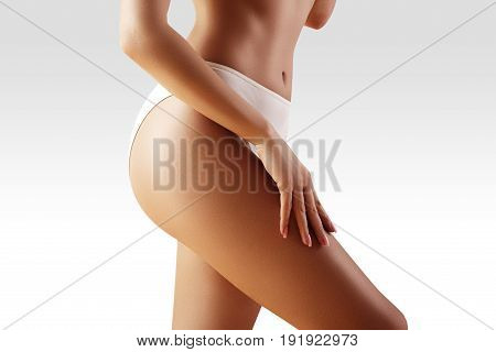 Spa, Wellness. Healthy Slim Body. Beautiful Sexy Hips. Fitness Or Plastic Surgery. Perfect Buttocks
