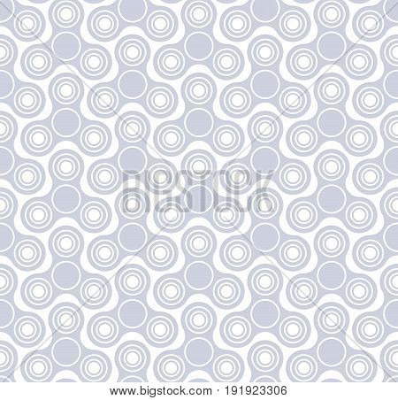 Hand fidget spinner toys seamless pattern. Stress and anxiety relief devices. Monochrome background.