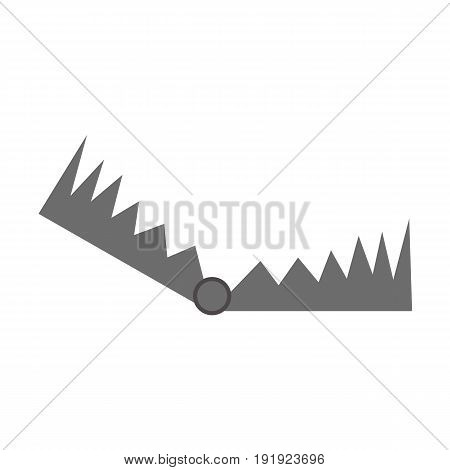 Hunting trap icon. Vector illustration isolated on white background.