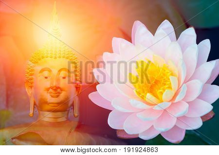 lotus with buddha. Asian Thailand culture buddhist religious.