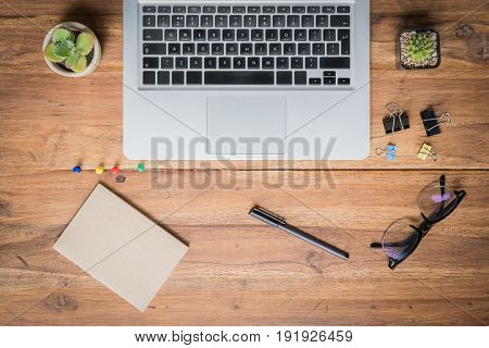 Looking for direction and inspiration, Business working at an office, Office desk table with computer, supplies