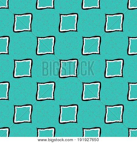 Cyan blue seamless ornamental simple vintage texture pattern