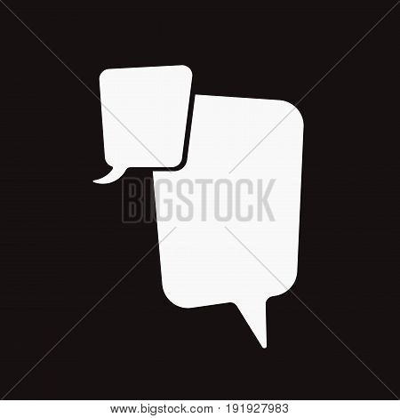 illustration of conversation bubbles chat icons on black background