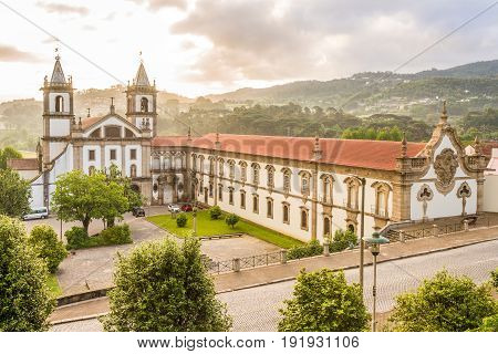 View at the Monastery Sao Bento in Santo Tirso - Portugal