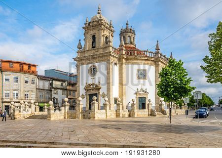 View at the Church Bom Jesus da Cruz of Barcelos in Portugal