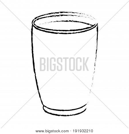 draw glass cup crystal water liquid vector illustration