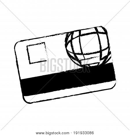 credit card bank money plastic digital vector illustration