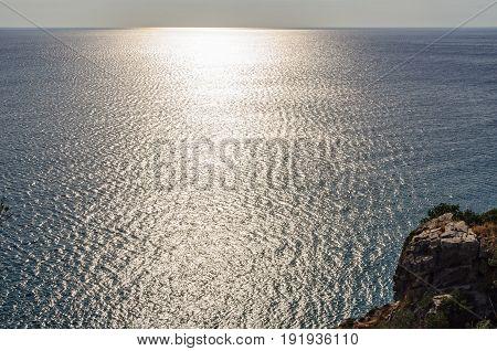 Backlit Tyrrhennian Sea - Maratea Basilicata Italy