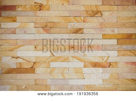 sand stone wall texture and background of decorate