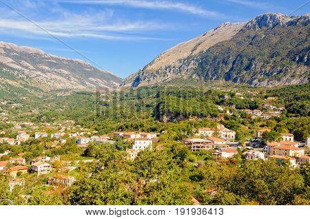Driving towards the mountain pass from Maratea - Basilicata Italy