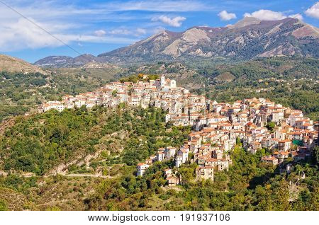 Rivello is a charming medieval village in a scenic position high above the Tyrrhenian sea - Basilicata Italy