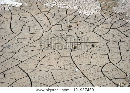 Dry and cracked earth natural abstract background