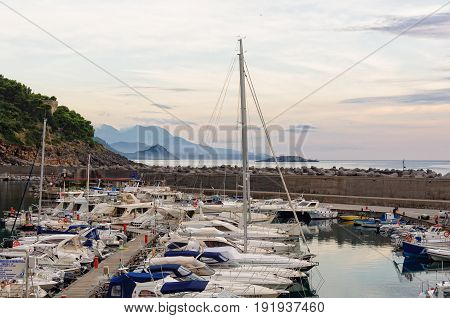 Port of Maratea is one of the most important harbors of the Tyrrhenian - Basilicata Italy, 24 October 2011