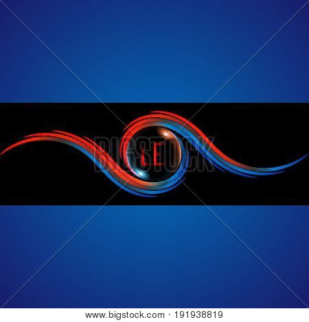 Logo design vector template. Colorful icon. Monogram logotype concept idea.