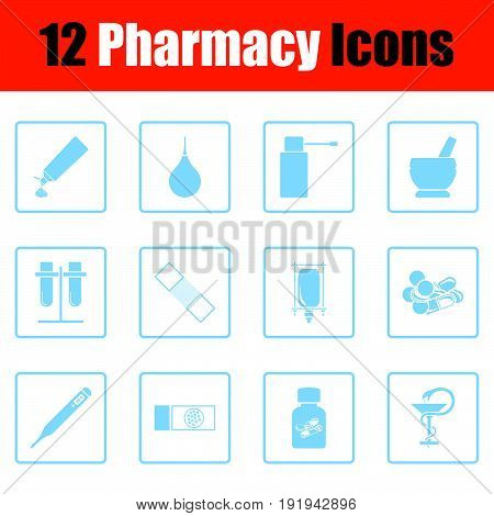 Set Of Twelve Pharmacy Icons