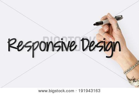 Responsive Web Design Graphic Word