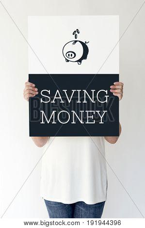 Saving Money Finance Piggy Bank Graphic Concept