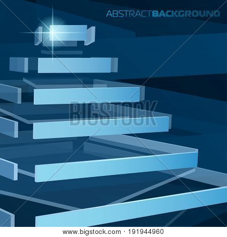 Vector high-tech background 3d pyramid for your creative business design