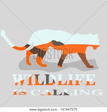 Africa landscape inside of an animal vecto illustration