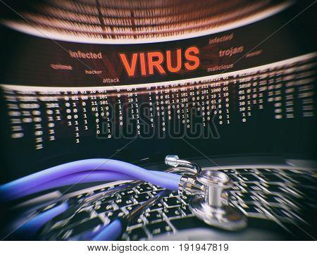 Computer Virus On Laptop