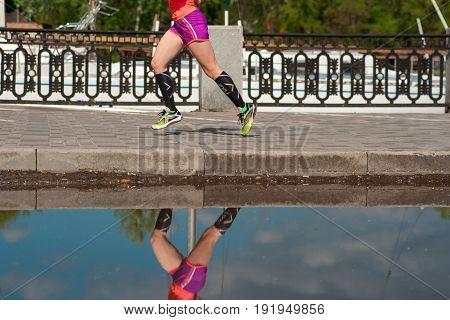 Legs Of A Running Girl