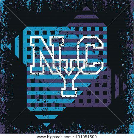 New York typography t-shirt NY design graphic printing man NYC original design clothing clothing graphic design
