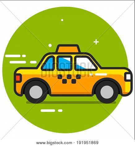 Taxi icon design graphic art illustration rasterized
