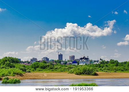 View of the city of Kirov from the opposite bank of the river Vyatka