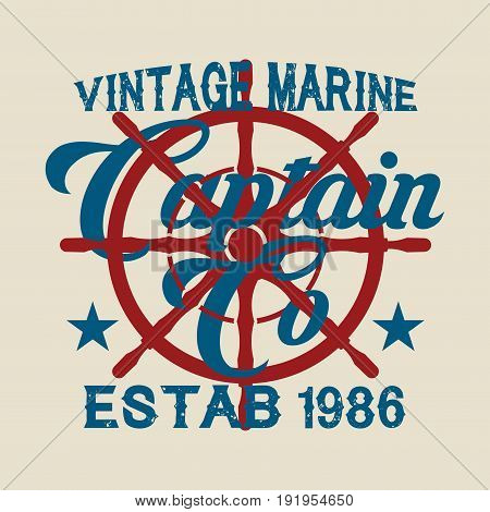 drawing t-shirt NYC nautical design sailor printing badge applique label