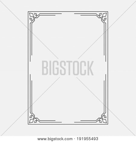 image decorative ornamental frame dark abstraction style