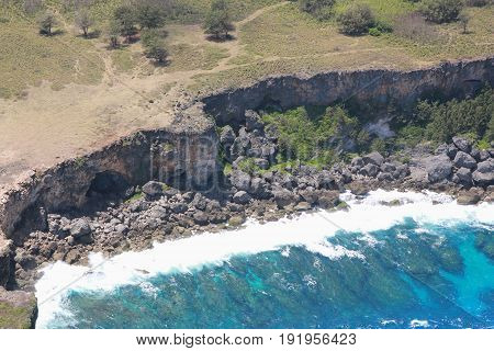 Sharp cliff drops and coastal view Amazing views of the steep drops and coastal view of the northern part of Saipan