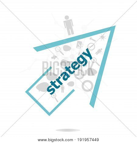 Text Strategy. Finance Concept . Data Protection And Secure Elements Inforgaphic Set