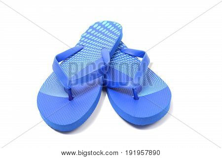 Flip flops isolated over white clipping path