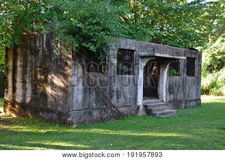 Old Japanese Jail building, Saipan Relics of an Old Japanese Jail in Garapan, Saipan