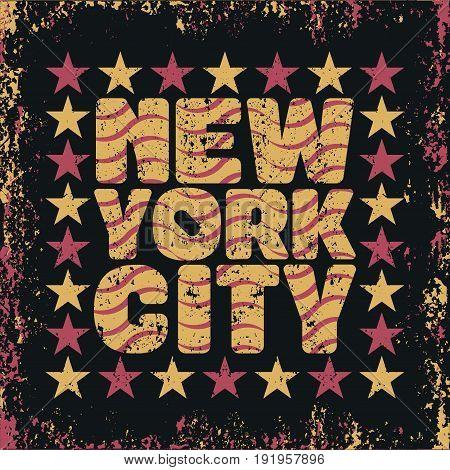 New York typography t-shirt NY design graphic printing NYC original design clothing