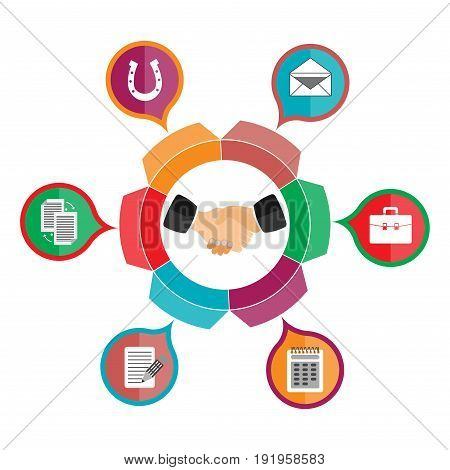 customer relationship management partnership hanging business friendship fully editable image
