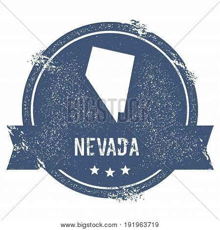Nevada Mark. Travel Rubber Stamp With The Name And Map Of Nevada, Vector Illustration. Can Be Used A